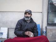 Vassil Dumitru, SDF. Maraude matinale de l'Armée du Salut dans les quartiers autour de Gare du Nord et de l'Est à Paris. Octobre 2018.