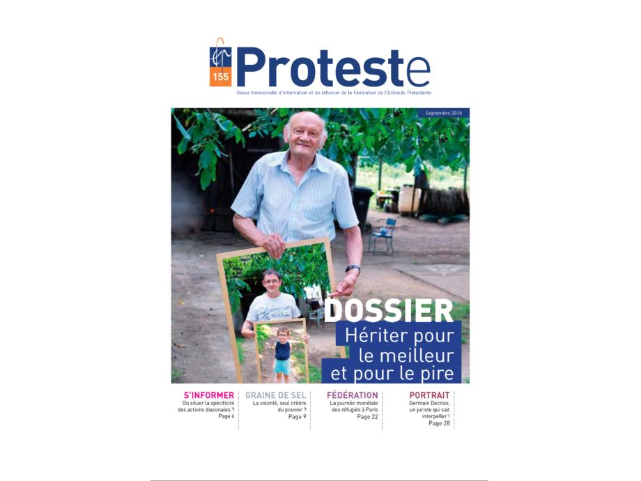 Abonnement revue Entraide Protestante : Proteste