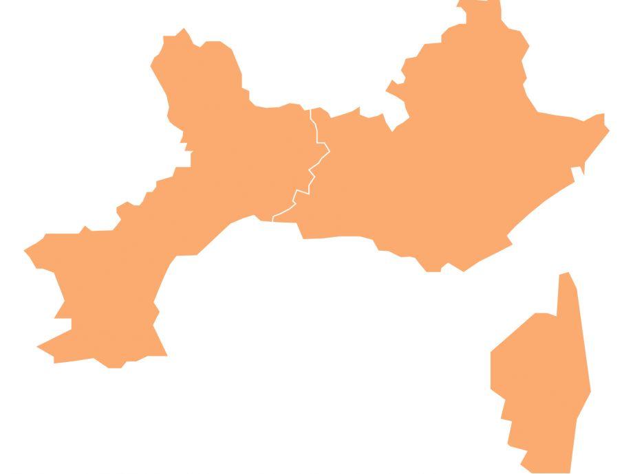 Carte FEP Arc méditerranéen