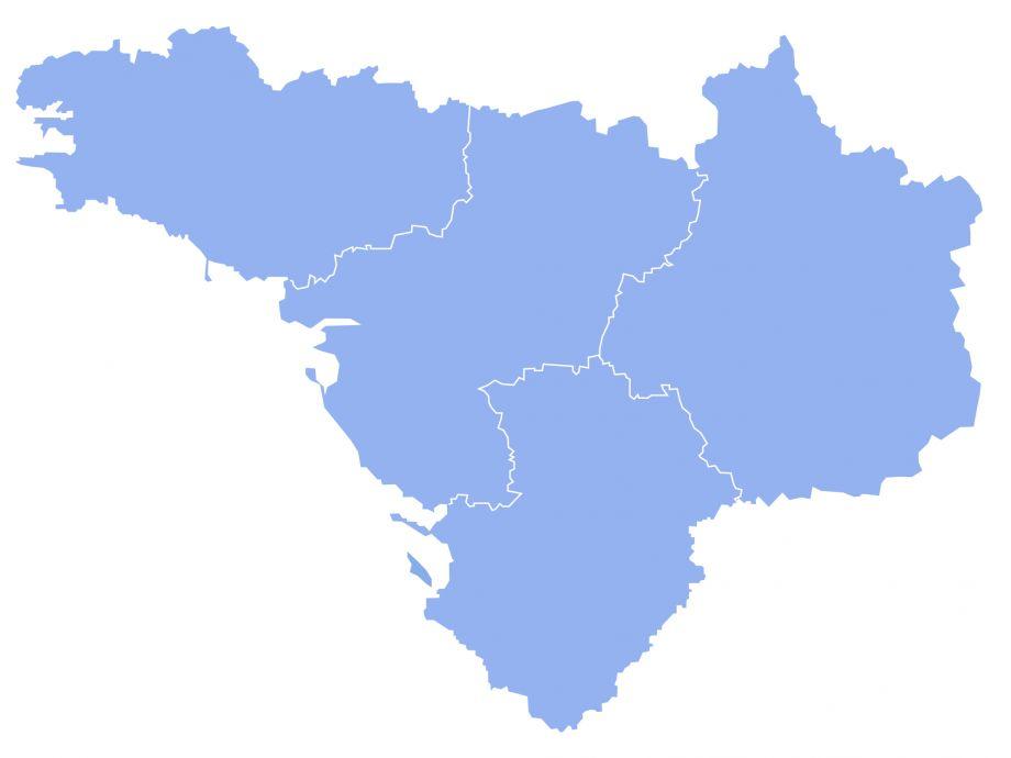 Carte Fédération Entraide Protestante Grand Ouest
